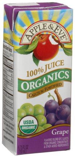 Apple & Eve Organic Juice, Grape, 6.75 Ounce (Pack of 27)