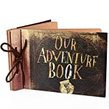 Our Adventure Book Pixar Up Handmade DIY Family Scrapbook Photo Album Expandable 11.6x7.5 Inches 80 Pages with Photo Album Storage Box DIY Accessories Kit for Birthday Wedding (Our Adventure Book)
