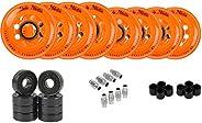 Labeda Addiction Roller Hockey Wheels, Hybrid Ceramic Bearings, Choose Size/Color