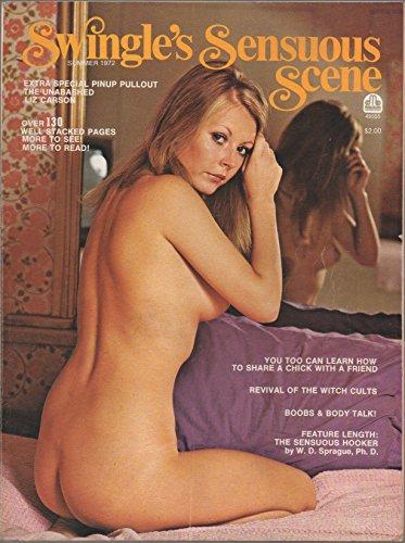 Swingle's Sensuous Scene [adult nude magazine] (Summer 1972) (Liz Carson cover & centerfold poster) (Witch Cults; Miss Nymphet Dana Swenson; Hilda Keim; Faiza Fawa; Jana San Martine; Maud Barton)