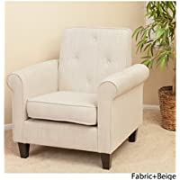 Christopher Knight Home 214526 Isaac Tufted Fabric Club Chair, Beige