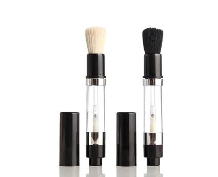 Beau Belle Cepillo Dispensador Maquillaje - Cepillo Rellenable - Brocha Base - Brocha Blush - Maquillaje