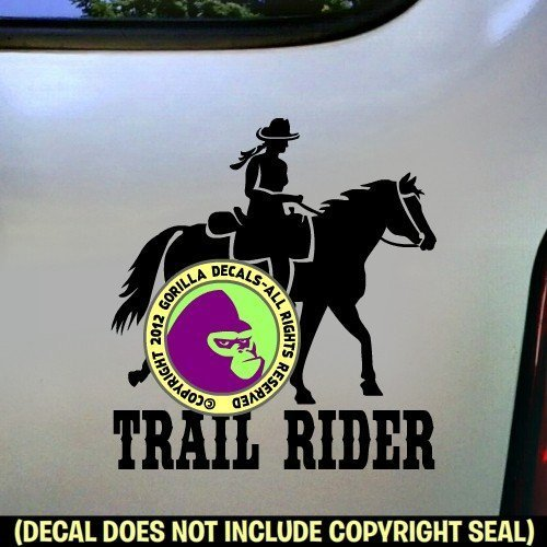 Endurance Rider Horse ADD CUSTOM WORDS Vinyl Decal Sticker B
