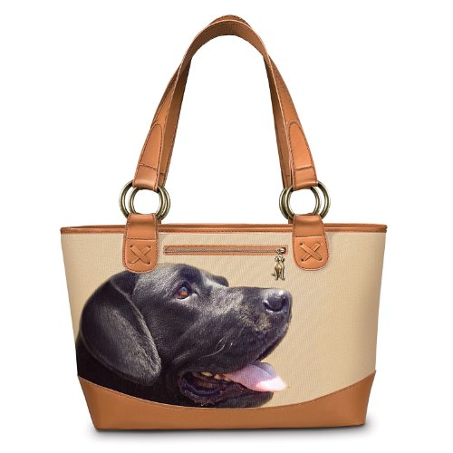 Faithful Friend Dog-Themed Tote Bag: Unique Dog Lover Gift: Black Labrador by The Bradford Exchange