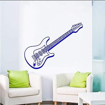 Myvovo Música Arte Diseño Etiqueta De La Pared Etiqueta De La Pared Guitarra Eléctrica Hermosa Tatuajes