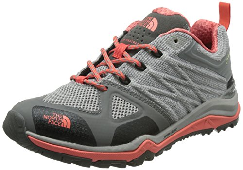 The North Face W Ultra Fastpack Ii Gtx, Zapatillas de Senderismo para Mujer Gris (Foil Grey / Radiant Orange)