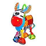 MUYOS Baby Toys, Pram Toys, Colorful Zebra Infant Stroller Toys Washable Squeaker Car Toys, Kids Hanging Toy For Crib With Teethers (Zebra)