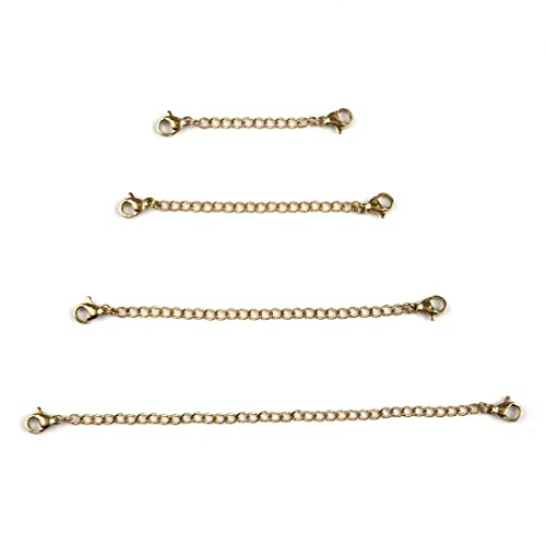 Jiayiqi 5pcs Extender Extension Chain with Lobster Clasps