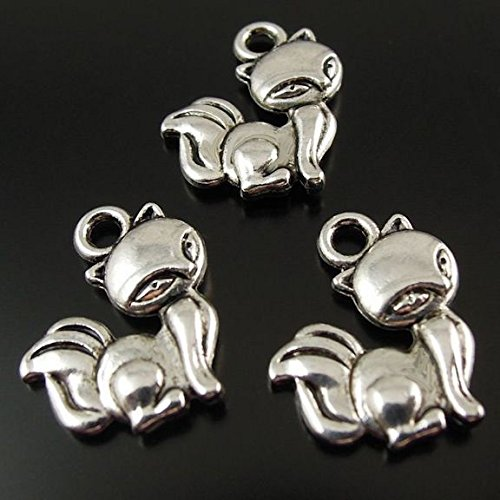 8 Skunk Charms Antique Silver Tone 2 Sided - SC2500 Jewelry Making Supply Pendant Bracelet DIY Crafting by Wholesale (Skunk Charm)