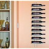 Scaffale vini Dies White 116cm in metallo per 10 bottiglie Supporto bottiglie Scaffale a parete Porta bottiglie