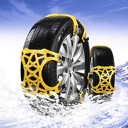 Wish calendar 6Pcs Anti Snow Universal Tires Chains of Car, Tire Chain Emergency Thickening Anti-Skid Chain