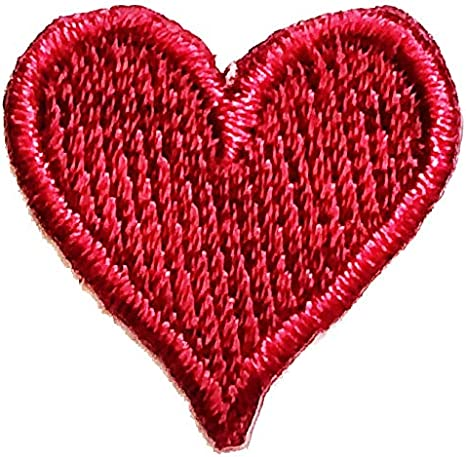 Lot of 20 Little Red Hearts Embroidered Iron On Applique Patches DIY 20x16mm R056