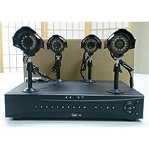 VONNIC Surveillance DK8704 4-Channel Kit 500GB Hard Drive 420TVL Brown Box