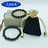 Black Tourmaline Crystal Bracelet Anti Anxiety Bracelet Tourmaline Crystal Bracelet for Women and Men Magnetic Bracelets For Anti-Stress Or Anti-Anxiety Healing Bracelet Set