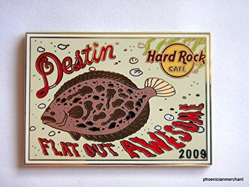 2009 Destin Florida Hard Rock Cafe Post Card Flounder - Destin Stores Florida