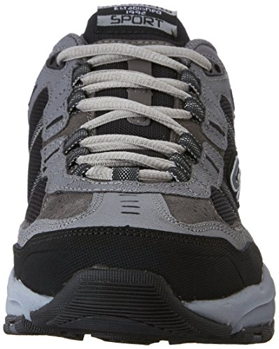 Skechers Sport Men's Vigor 2.0 Trait Memory Foam Sneaker, Charcoal/Black, 7 M US by Skechers (Image #4)
