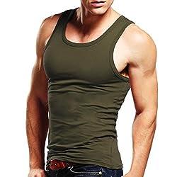 Xudian Men's Tank Top Sleeveless A-shirt Crew-neck