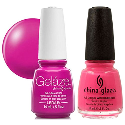(China Glaze Gelaze Tips and Toes Nail Polish, Shocking Pink, 2 Count)