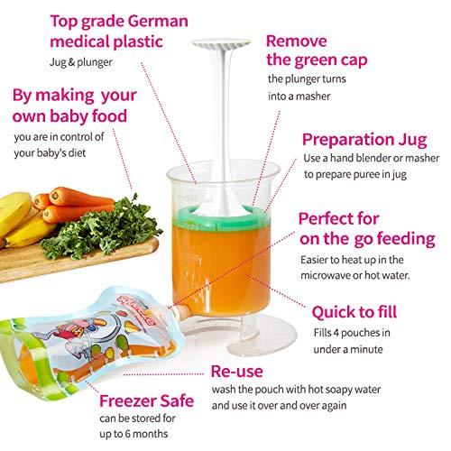Fill n Squeeze, Sistema bolsas de destete, alimentos bebés ...