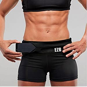 "Running Belt Waist Pack Universal Outdoor Sports Workout Fanny Pack, Stand Wear and Tear (Black, Large/33""-37"")"