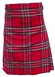 AAR Brand New Royal Stewart Traditional Kilt 2 Buckles & 2 Leather Straps KILT 38''