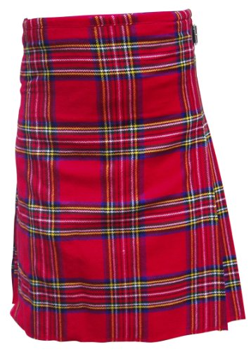 AAR Brand New Royal Stewart Traditional Kilt 2 Buckles & 2 Leather Straps KILT 38