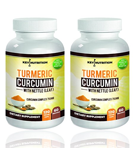Turmeric Curcumin 1500mg 120 Veggie Capsules- with Piperine (Black Pepper) Extract (Pack of 2 Bottles)