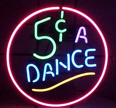 Prang-US Dance Neon Signs 17×14 inch, Real Neon Signs made with Glass Tubes, Brilliant Neon Open Sign. Eye-catching Neon Beer Sign. by Prang-US (Image #1)