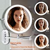 Wall Mounted Makeup Mirror Lighted, 8 Inch Double