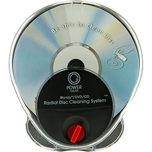 Cd / Dvd Radial Disc - Power Gear Blue-Ray, DVD and CD Radial Disc Cleaning System by Jasco