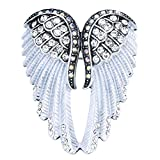 Szxc Jewelry Women's Crystal Angel Wings Pin Brooches Pendants