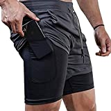 Surenow Mens Running Shorts,Workout Running