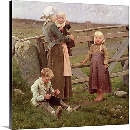 Gate Dalby - GREATBIGCANVAS Gallery-Wrapped Canvas Entitled The Dalby Gate, Skane, by Hugo Salmson, 1884 by 10