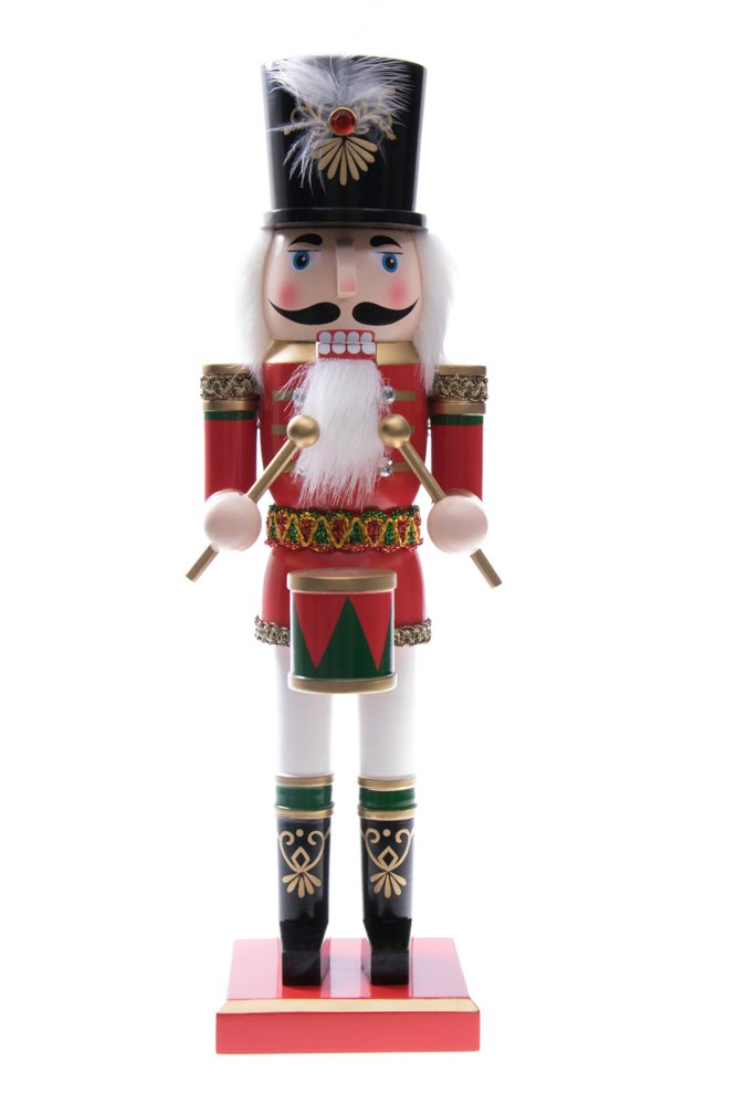 Clever Creations Soldier Drummer Nutcracker Decoration Figure With Hat And Drum - 14