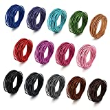 BEADNOVA 1.5mm Genuine Round Leather Cord Leather