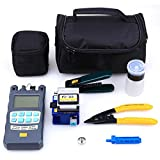 FTTH Fiber Optic Tool Kit with Fiber Fibra Optica Power Meter and Visual Fault Locator and Cable Cutter Stripper FC-6S Fiber Cleaver