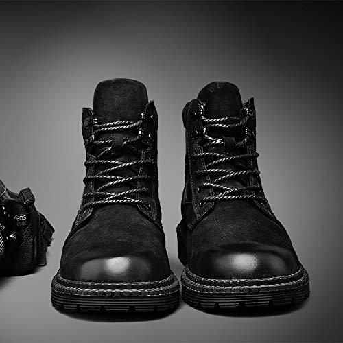 416cfa01f9c2dd Da Qualità Scarpe Stivali Comodi Lavoro Alta Uomo Martin In Black All'usura  Antiscivolo Lovdram Resistenti All'aperto Pelle Uomo Di Per A5xtd7vw