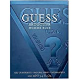 Guess Seductive Homme Eau de Toilette Spray for Men, Blue, 100ml