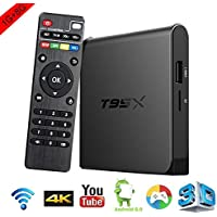 ZMVA T95X PLUS Android TV Box Amlogic S905X Quad-core ,1G /8GB H.265 Video Decoder Mini PC HD 3D TV Devices WIFI smart set-top boxes 64 Bits and True 4K Playing WIFI 2.4Ghz