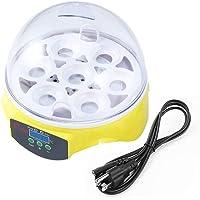 EMILY Único automático de 7 Huevos Que giran en la incubadora de Pollo Hatcher Control de Temperatura Amarillo