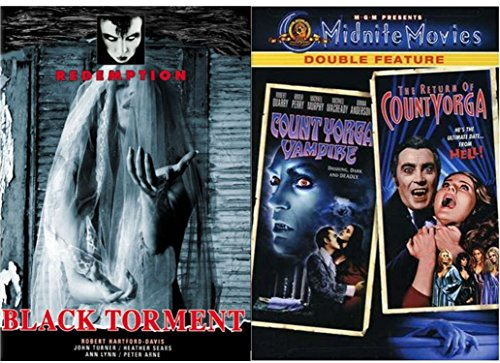 The Cult Vampire Set -Count Yorga & The Return of Count Yorga (MGM Midnite Movies Double Feature) & Black Torment 3-Movie Bundle