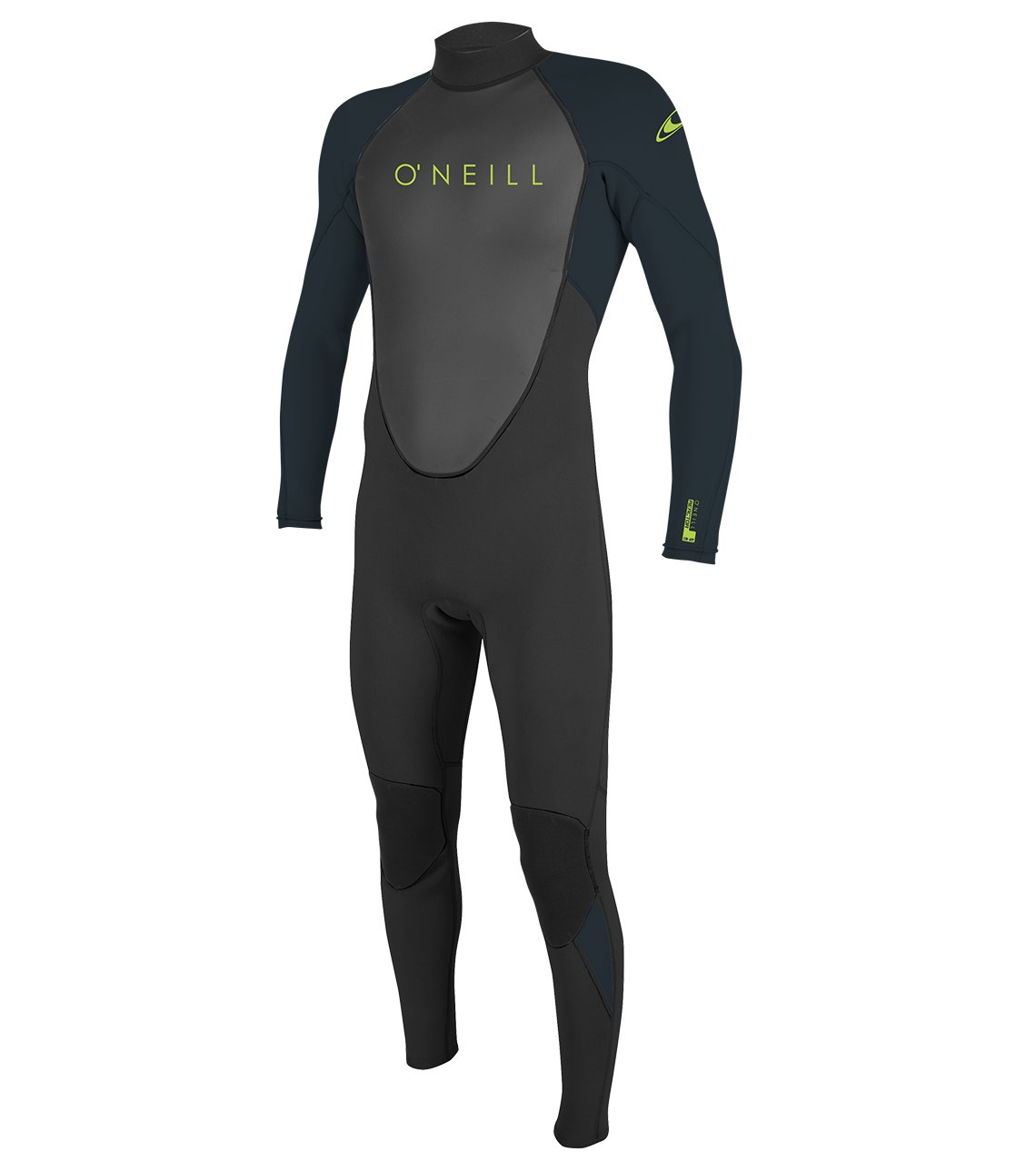 O'Neill Youth Reactor-2 3/2mm Back Zip Full Wetsuit, Black/Slate, 8