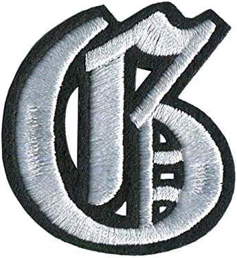 Monogram H embroiderd Iron On Canvas Patch