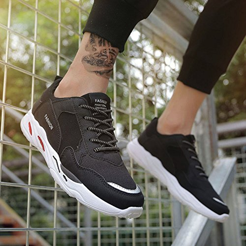Patchwork Sneakers Men up Breathable Black Shoes Outdoor Running Comfortable Color Sports Lace vx4rYv