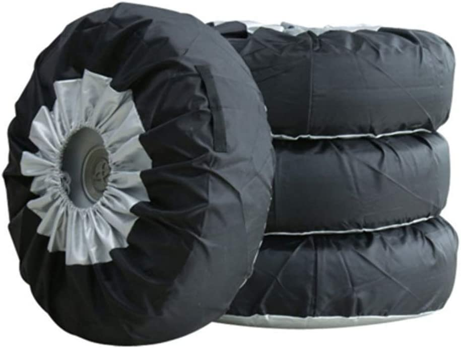Universal Spare Tire Cover Tire Covers Letar 4pcs Dust-Proof Storage Bags Tyre Spare Cover Lightweight Tire Case
