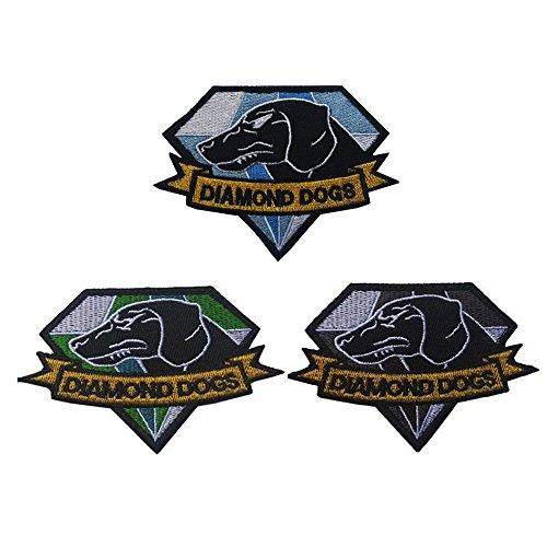 Ultrafun Tactical Morale Diamond Dogs Badge Patch and Mental Gear Solid Fox Hound Embroidered Emblem Patch Hook & Loop Fastener Patch (Group-G)