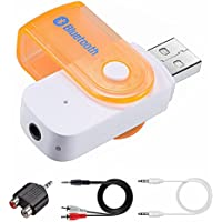 Bluetooth Transmitter, Portable Wireless Audio Adapter with 3.5mm and RCA Cable Adapter for Projector / TV / PC / CD Player,YanLitek,White