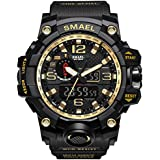 IBANSE Men's Sports Analog Quartz Watch Dual Display Waterproof Digital Watches with LED Backlight relogio masculino El Movimiento de los relojes