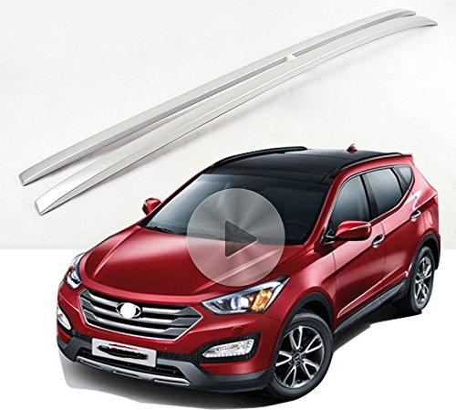 Fit for Hyundaiすべての新しいツーソン2015 2016 2017荷物荷物屋根ラックレールクロスバークロスバー シルバー KINGCHER01121 B01MT109ZX  シルバー