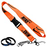 Nike Orange Cell Phone Keychain Lanyard Keys ID MP3 Holder Neck Straps with LOCALS Bottle Opener with Nike Baller Wristband